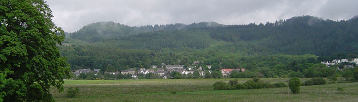 Aberfoyle Village with pubs and restaurants is just a 10 minute walk